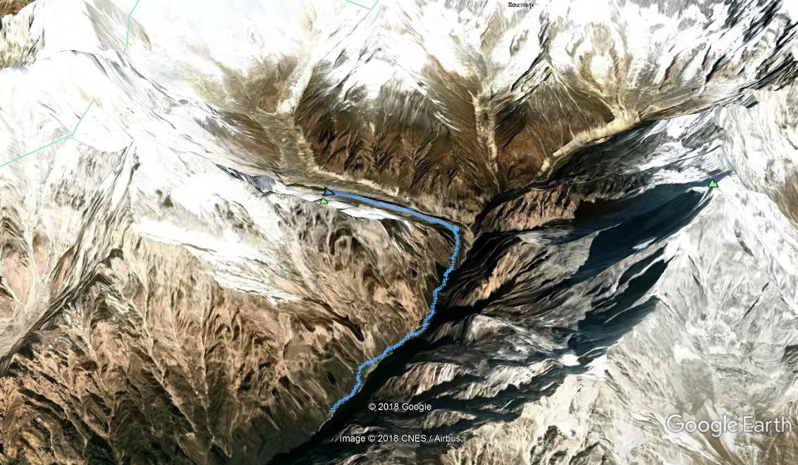 Трек Himalaya - ABC (Annapurna Base Camp) на Google Earth