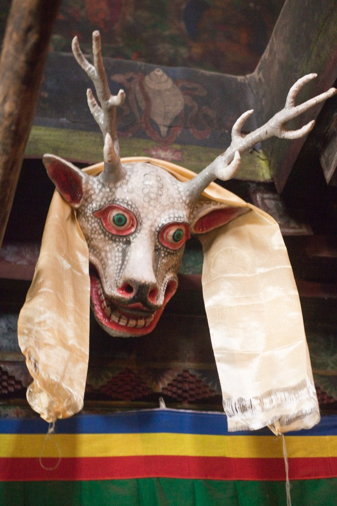 Mask in the Lupra gompa